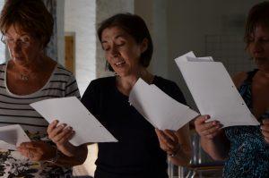 Annemarie Corinna Lissy singen auf dem Chorwochenende