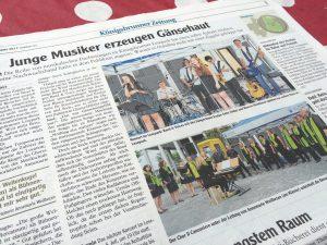 Zeitungsbericht Lesepark Il Canzoniere und Band Voices als Pressebericht über Piano & Voice