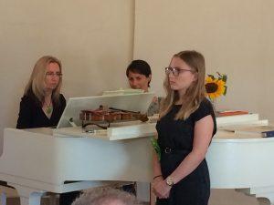 Klavier und Gesang Auftritt