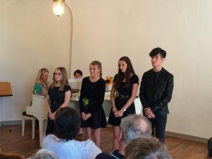 Jugendchor Auftritt Quartett