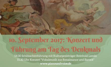 Denkmaltag: Konzert und Führung im Unteren Schlösschen