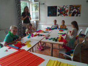 Basteln auf der Kinderchor Fahrt Lindau 2018