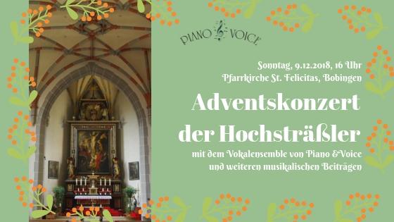 Vokalensemble singt beim Adventskonzert der Hochsträßler