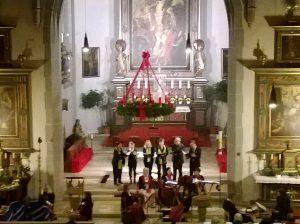 Das Vokalensemble beim Adventskonzert in St. Felicitas Bobingen