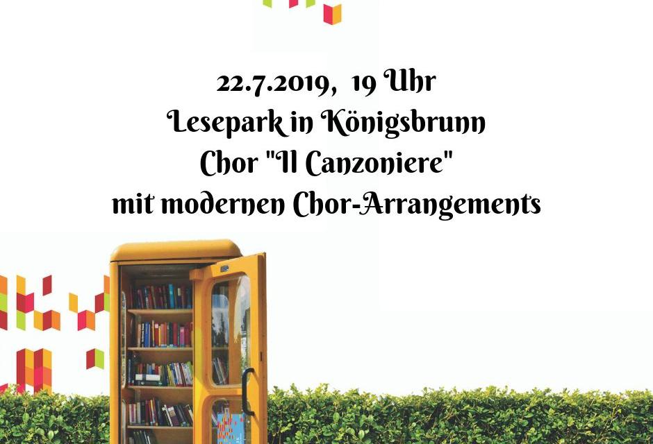 22.7.2019 Auftritt Il Canzoniere im Lesepark Königsbrunn