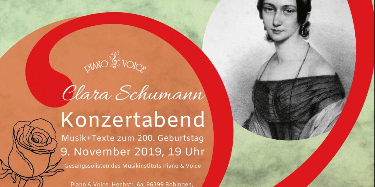 Clara Schumann Konzertabend am 9.11.2019