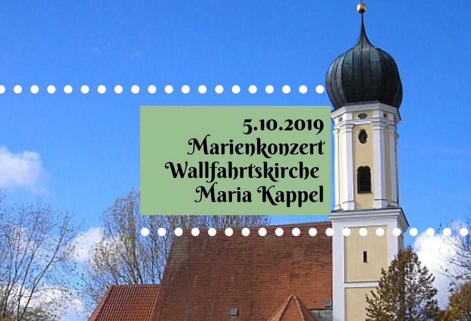 Marienkonzert am 5.10.2019 in Maria Kappel, Schmiechen