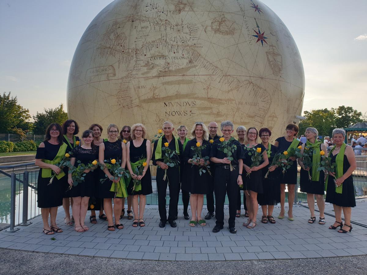 Chor Il Canzoniere beim Auftritt in Königsbrunn