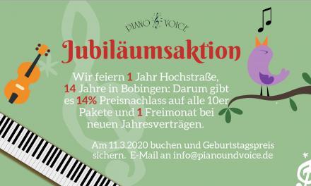 Jubiläumsaktion zum ersten Geburtstag in der Hochstraße