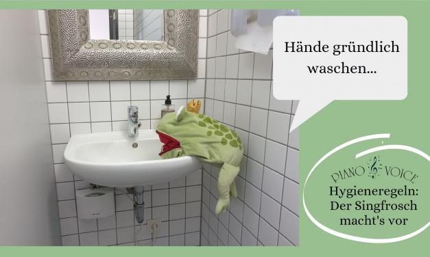 Hygieneregeln? Der Frosch zeigt, wie es geht!