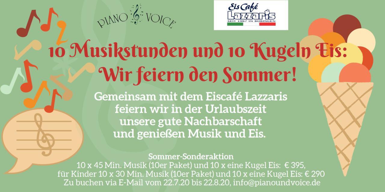 Sommeraktion mit Musik und Eis